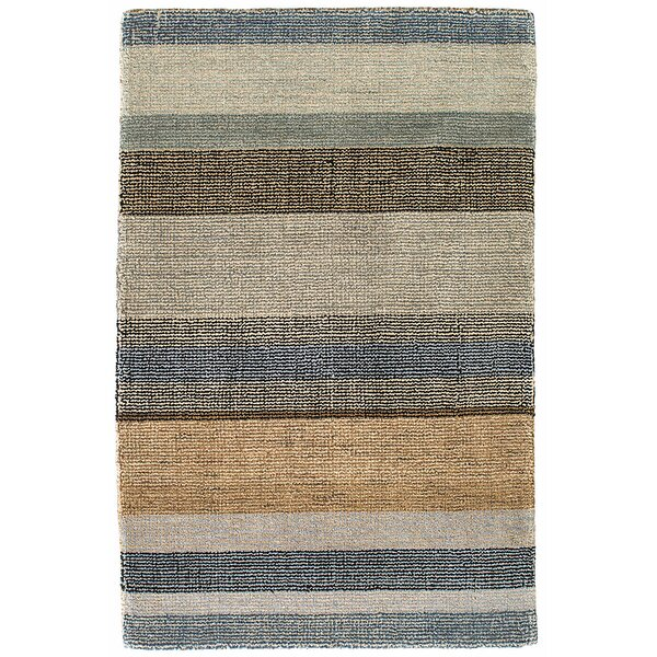 Birchwood Stripe Hand-Hooked Beige/Gray Area Rug by Dash and Albert Rugs