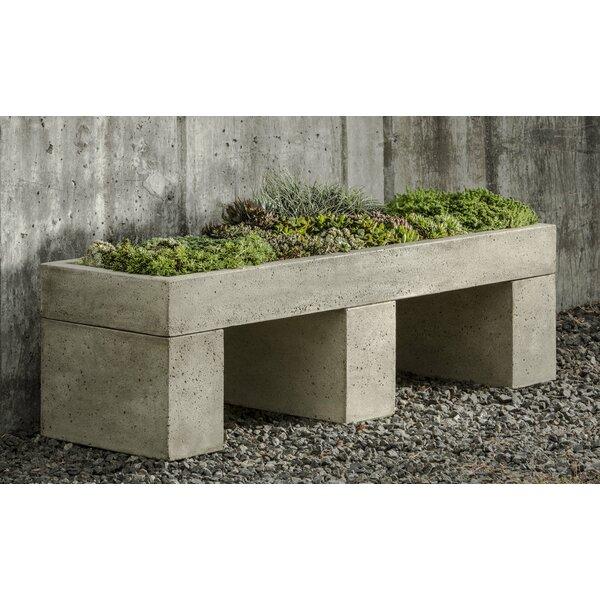 Bellman 4.5 ft x 1.5 ft Cast Stone Raised Garden by Wrought Studio
