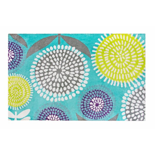 Pointillist Pansy Blue Area Rug by Crayola LLC