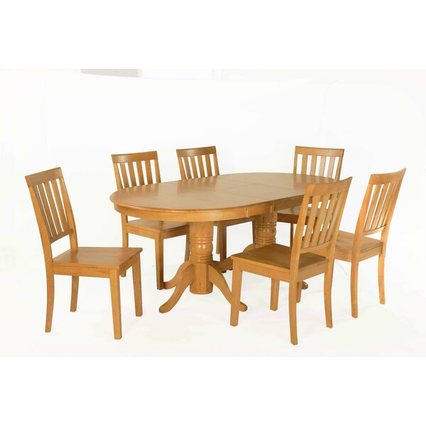 Inwood 7 Piece Extendable Solid Wood Dining Set by Darby Home Co