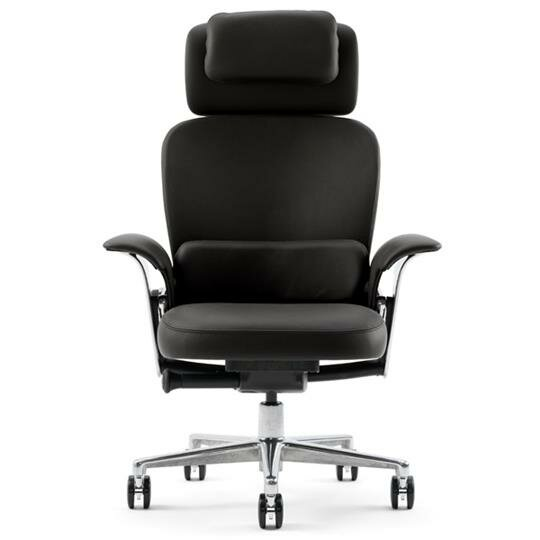 Leap® High-Back Leather Executive Chair by Steelcase