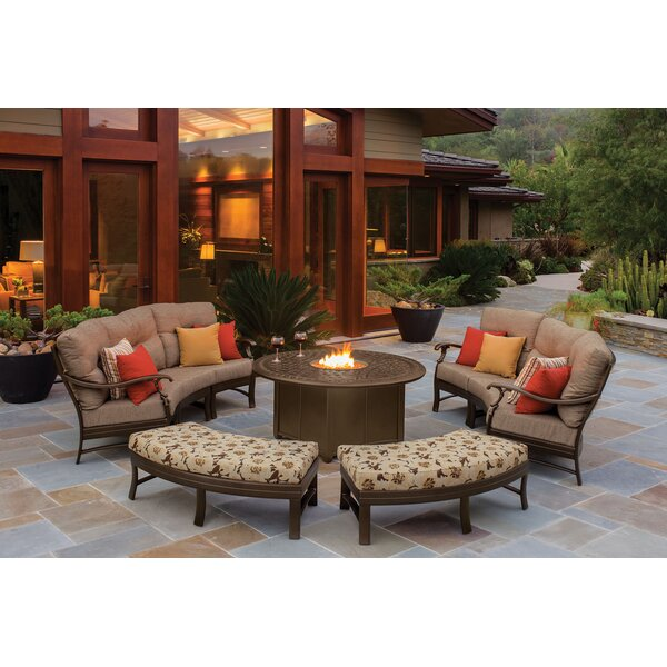 Ravello Fire Pit Seating Group with Cushions by Tropitone