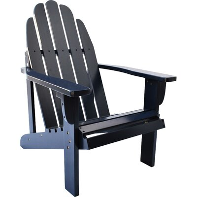 Diredra Solid Wood Adirondack Chair Color: Naval