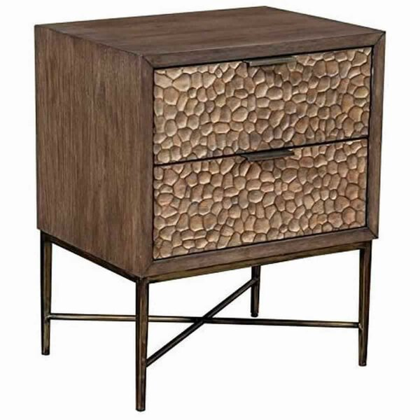 Alexandra 2 - Drawer Nightstand In Brown By Foundry Select