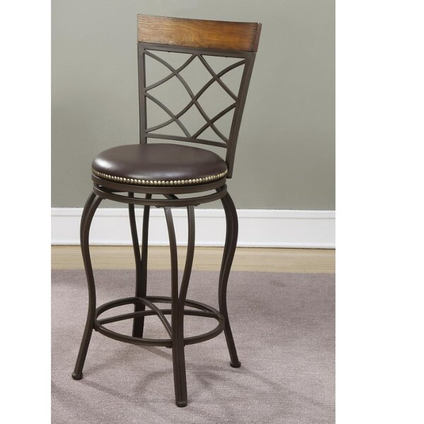 Whitlow Swivel Bar Stool (Set of 2) by Millwood PinesWhitlow Swivel Bar Stool (Set of 2) by Millwood Pines