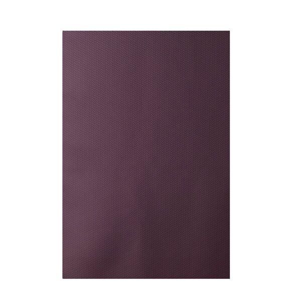 Solid Purple Indoor/Outdoor Area Rug by e by design
