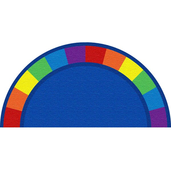 Blue Semicircle Area Rug by Kid Carpet
