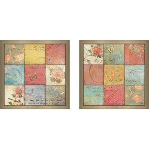 Life is a Garden' 2 Piece Framed Acrylic Painting Print Set Under Glass by Ophelia & Co.