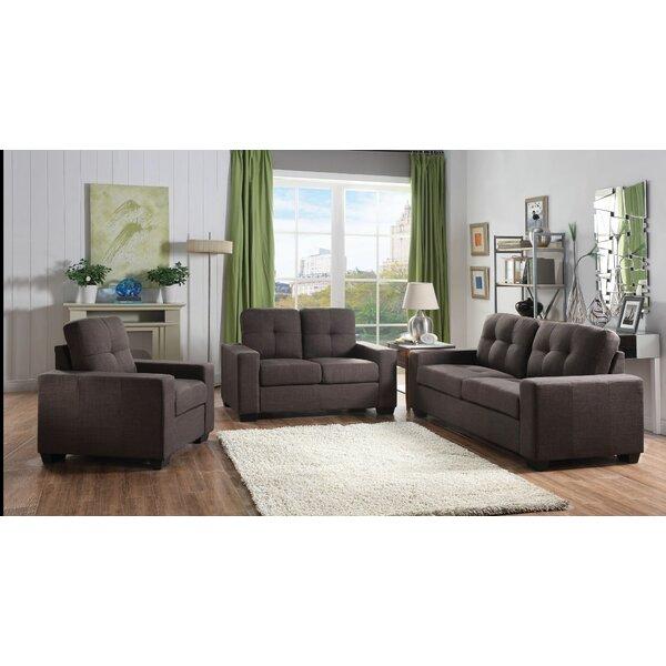Gillock 3 Piece Living Room Set by Ebern Designs