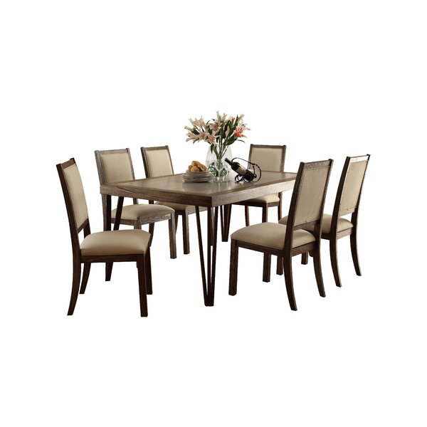 Shelby 7 Piece Dining Set by Canora Grey