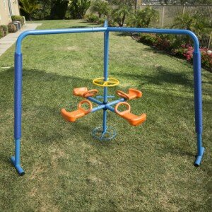 Four Station Fun Filled Merry Go Round by IronKids
