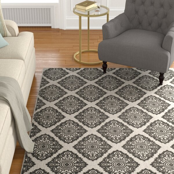 Mannox Cream/Gray Indoor/Outdoor Area Rug by Alcott Hill