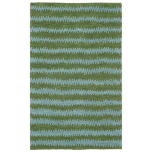 Gaia Hand-Tufted Green Area Rug by Breakwater Bay