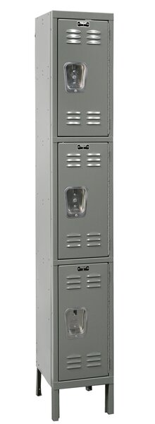 Premium 3 Tier 1 Wide School Locker by HallowellPremium 3 Tier 1 Wide School Locker by Hallowell