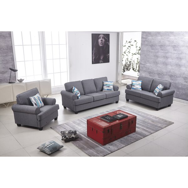 Celestia 3 Piece Living Room Set by Red Barrel Studio