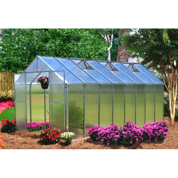 Monticello 8 Ft. W x 16 Ft. D Hobby Greenhouse by Riverstone Industries