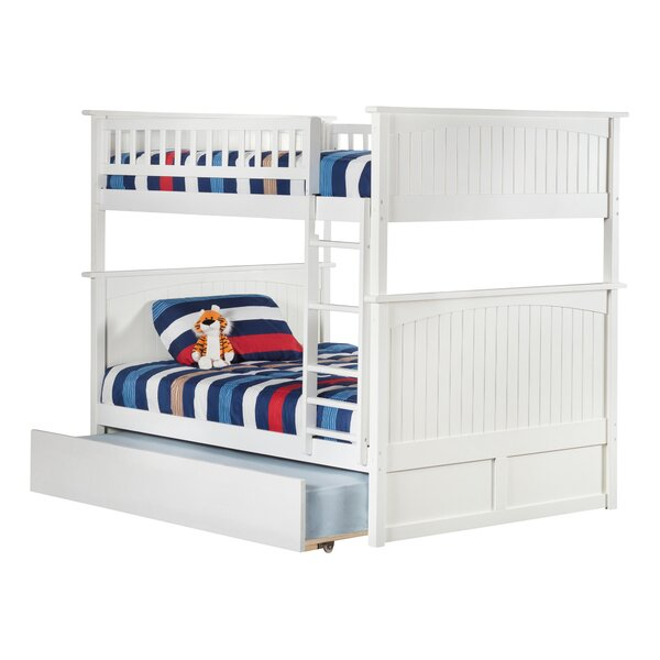 Abbie Full Over Full Bunk Bed with Trundle by Harriet Bee