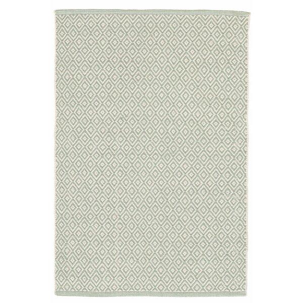 Lattice Cotton Ocean Area Rug by Dash and Albert Rugs