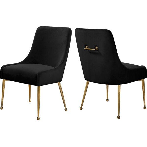 Stovall Velvet Upholstered Dining Chair (Set of 2) by Everly Quinn