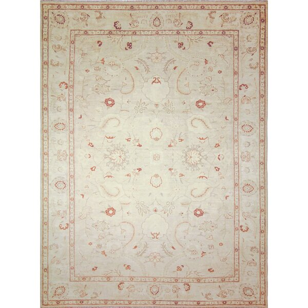 One-of-a-Kind Romona Hand-Knotted Light Green Area Rug by Isabelline
