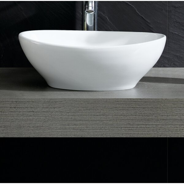 Modern Oval Vessel Bathroom Sink by Fine Fixtures