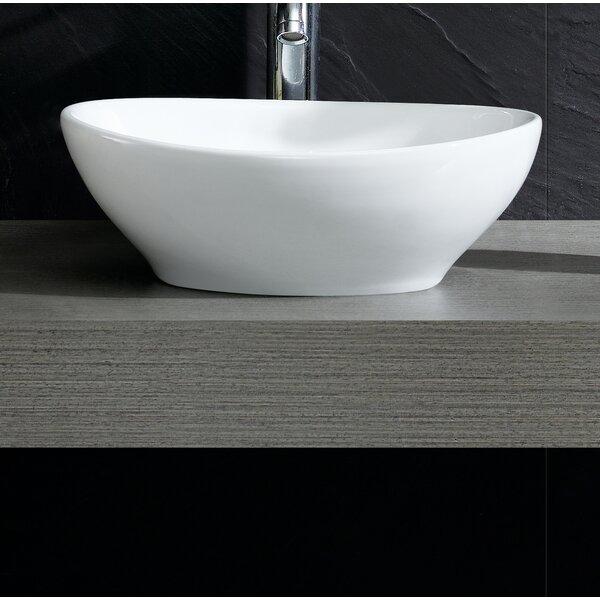 Modern Oval Vessel Bathroom Sink by Fine Fixtures