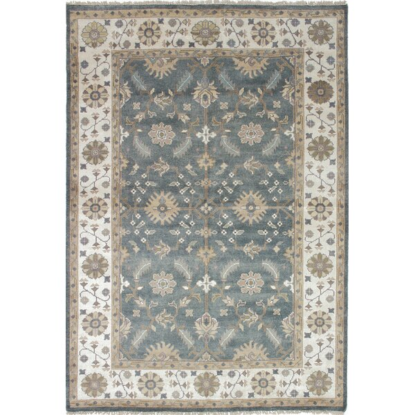 One-of-a-Kind Doggett Hand Knotted Wool Cream Area Rug by Isabelline