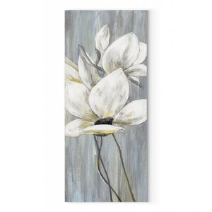 'Silver Spring I' Oil Painting Print on Wrapped Canvas by Red Barrel Studio