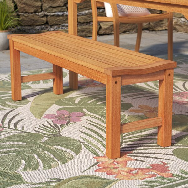Elsmere Wooden Picnic Bench by Beachcrest Home Beachcrest Home