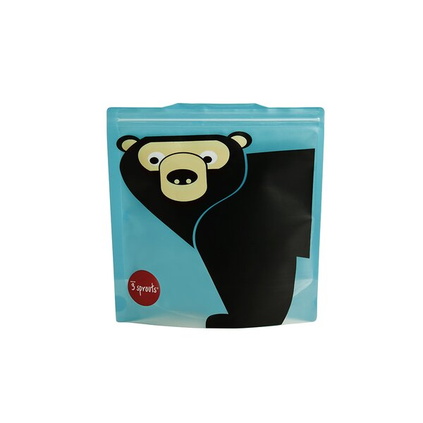 Bear Sandwich Bag (Set of 2) by 3 Sprouts