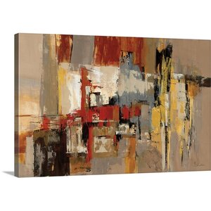 'Melody for Guitar and Sax' by Silvia Vassileva Painting Print on Canvas by Great Big Canvas