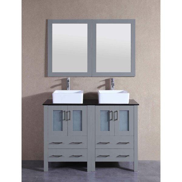 Remi 47 Double Bathroom Vanity Set with Mirror by Bosconi