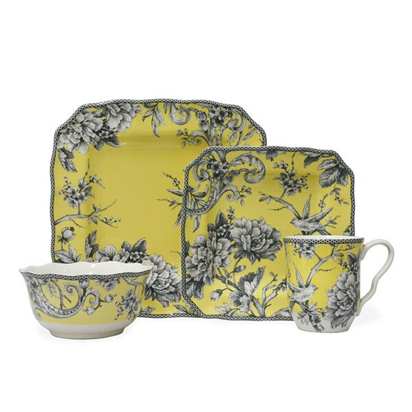 Adelaide 16 Piece Dinnerware Set, Service for 4 by 222 Fifth