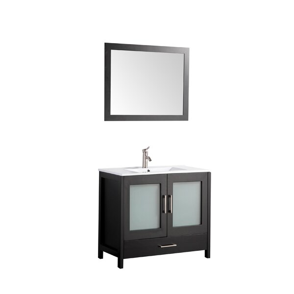 Larosa 48 Single Sink Bathroom Vanity Set with Mirror by Latitude Run
