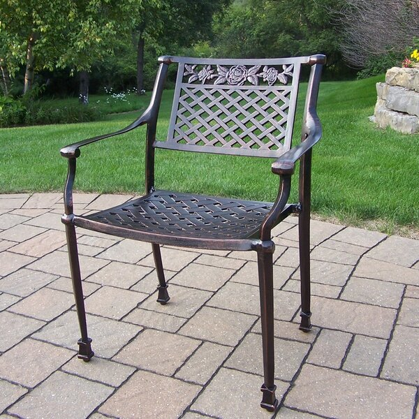 Rose Stacking Patio Dining Chair by Oakland Living