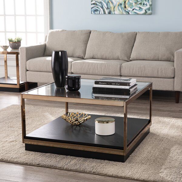 Lexina Frame Coffee Table With Storage By Mercer41
