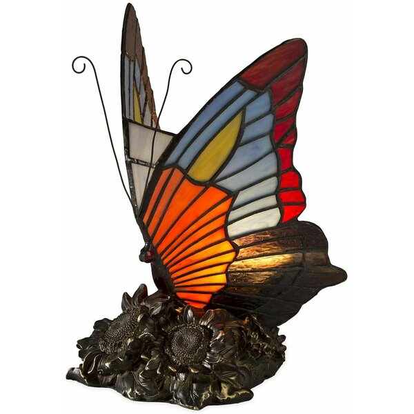 Captivating Wind U0026 Weather Stained Glass Butterfly Table Lamp U0026 Reviews | Wayfair