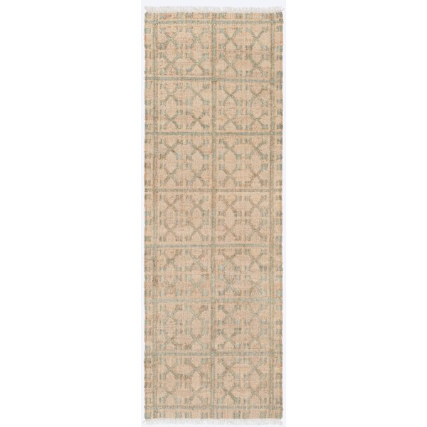 Avera Geometric Hand-Woven Beige Area Rug by Bungalow Rose