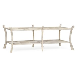 Collana Washed Acacia Coffee Table with Storage by Jonathan Charles Fine Furniture