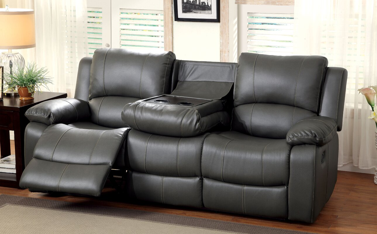 Beau Wellersburg Leather Reclining Sofa