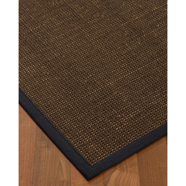 Kersh Border Hand-Woven Brown/Midnight Blue Area Rug by Bayou Breeze