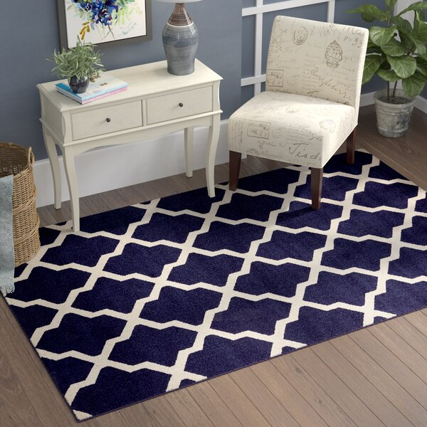 Moore Blue Area Rug by Charlton Home