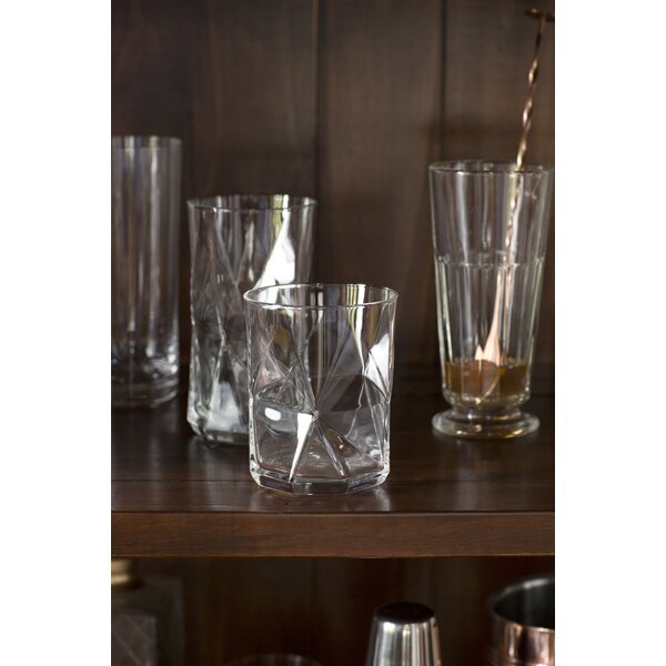 Oakgrove 13.75 Oz. Double Old Fashioned Glass (Set of 4) by Mint Pantry