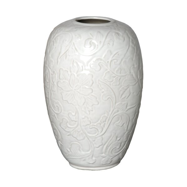 Botanical Relief Table Vase by Emissary Home and Garden