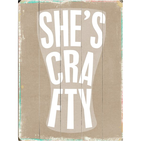 Crafty Beer Textual Art Multi-Piece Image on Wood by Artehouse LLC