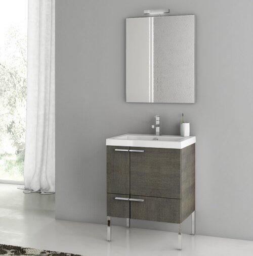 New Space 24 Single Bathroom Vanity Set with Mirror by ACF Bathroom Vanities