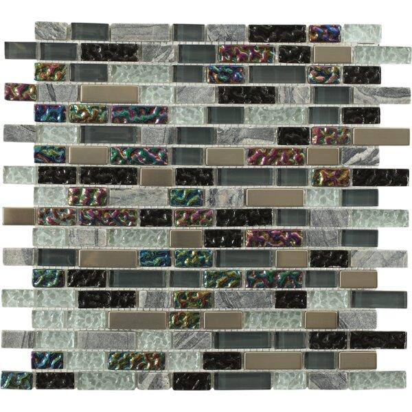 Seattle Bricks Random Sized Mixed Material Mosaic Tile in Skyline Blend by Splashback Tile