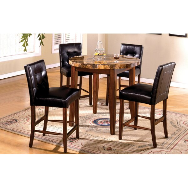 Husted 5 Piece Counter Height Dining Set by Red Barrel Studio
