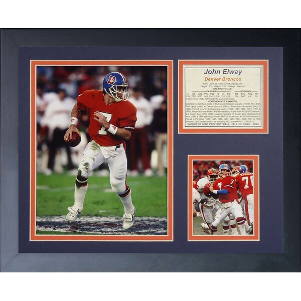 John Elway Framed Memorabilia by Legends Never Die
