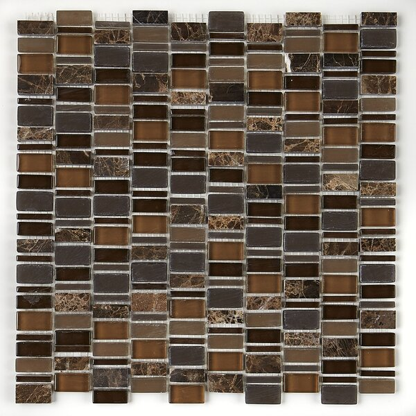 Clio Random Sized Glass Mosaic Tile in Eos by Daltile